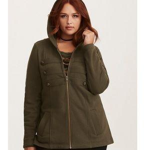 Torrid hooded military jacket